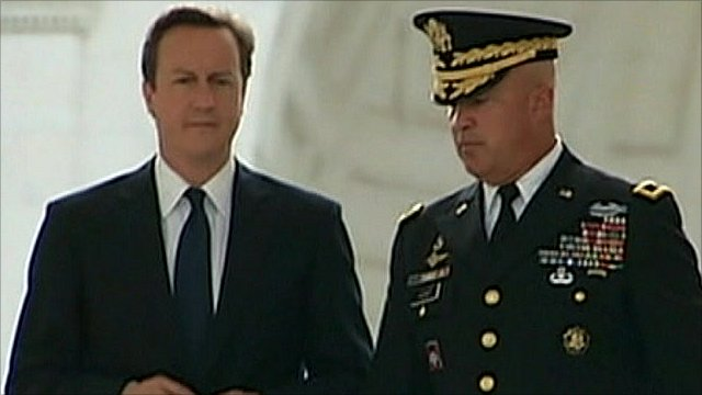 David Cameron meets US military advisors