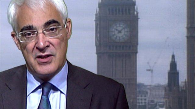 Shadow chancellor Alistair Darling