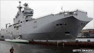 The Mistral-class warship (file photo)
