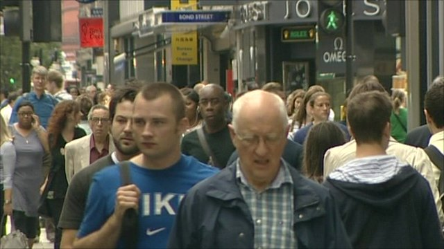 People in on a high street