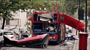 Aftermath of 7 July bomb attacks