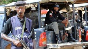 Police in Jos (file photo)