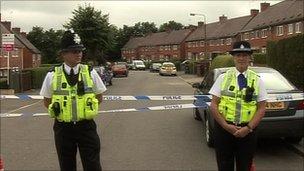 Police at scene in Ashbourne