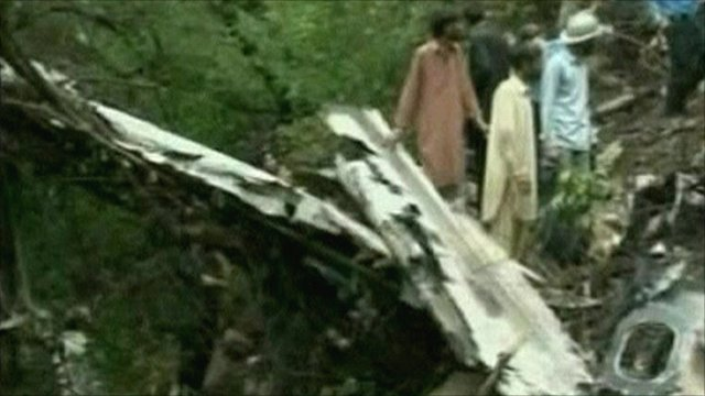 Pakistan plane crash site