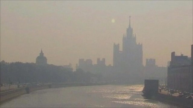 Moscow under smog