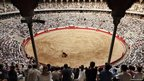 A view of Plaza Monumental during a bullfight