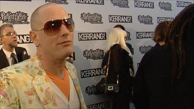 Corey Taylor at the Kerrang! Awards