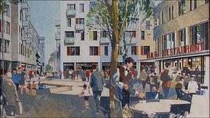 Artist's impression of Leale's Yard