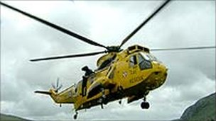 RAF Valley rescue helicopter