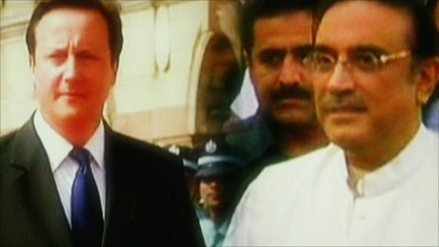 David Cameron and Asif Ali Zardari
