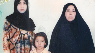 Adawiya Hussein and her two daughters (Family photo)