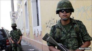 Mexican soldiers in Guadalajara, July 30 2010