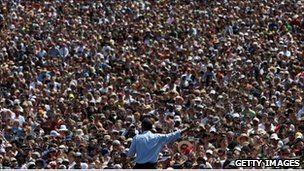 Obama speaks to 75,000 people in Oregon in 2008