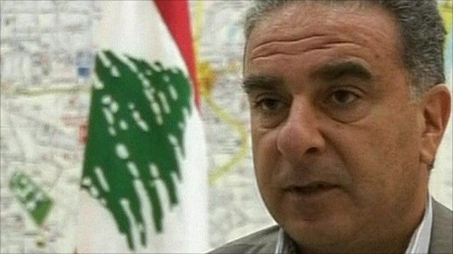 Lebanese State Minister Michel Faroun
