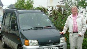 David Flower and car