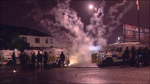 Overnight riots in Ardoyne