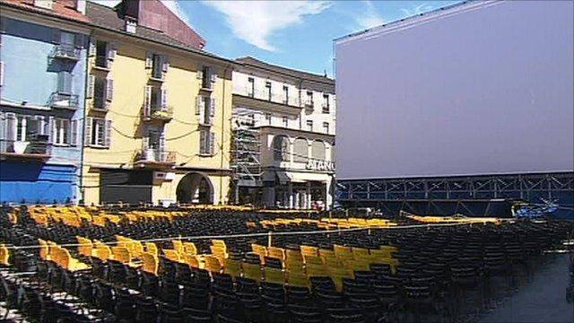 The big screen at the Locarno film festival