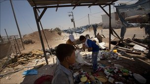 Children sort through garbage in a landfill on the Gaza/Israel buffer-zone, July 2010, Gaza City