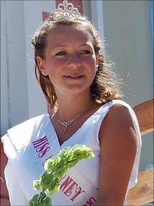 Miss Alderney 2010 Jo Woodnut in the Alderney Week cavalcade