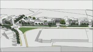 Architect's plan of development