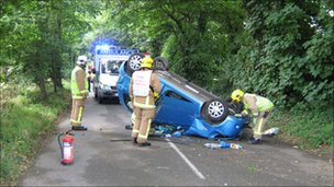 Road accident in Jersey