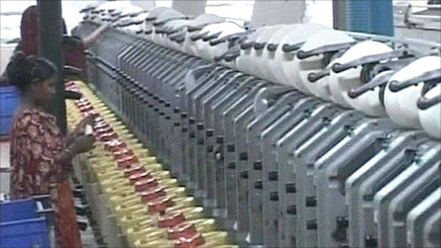 Inside a Bangladeshi garment factory