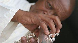The South African trumpet legend Hugh Masekela