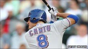 Jorge Cantu of the Texas Rangers bats