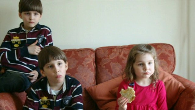 Twins Luca and Austin Riggi and their sister Cecilia