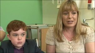 Ciaran Finn-Lynch and his mother Colleen