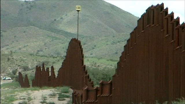 Fence at US-Mexico border