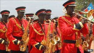 Southern Sudan military band (July 30, 2010)
