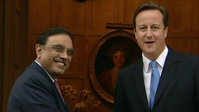 Prime Minister David Cameron and President Zardari of Pakistan