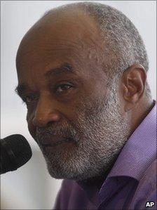 File photograph of Haitian President Rene Preval