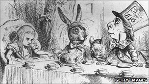 Sir John Tenniel's illustration of Alice in Wonderland