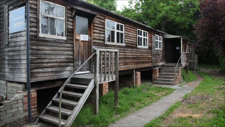 Wooden scout hut at Menai Bridge