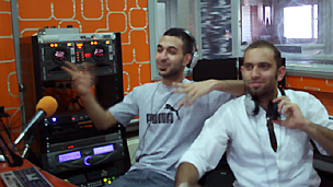 Haigo and Salah, teen presenters of the Mix FM morning show