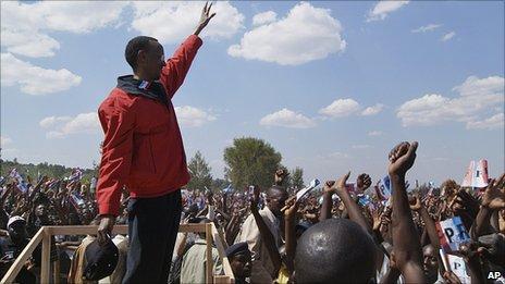 Paul Kagame in in Nyagatare 5.8.10