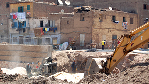 Bulldozer in central Luxor
