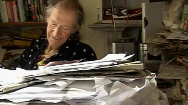 Beat poet Michael Horovitz in his Notting Hill flat