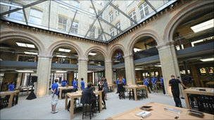 The new Apple shop in London's Covent Garden
