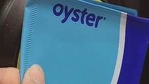 Oyster Card being topped up