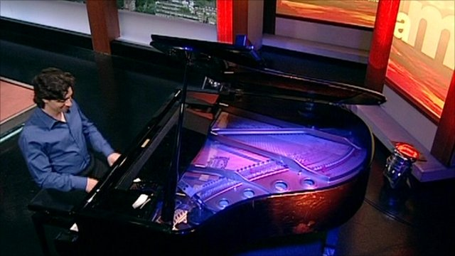 """Pianist Sergio Tiempo plays """"Horopo"""" on the Andrew Marr Show"""