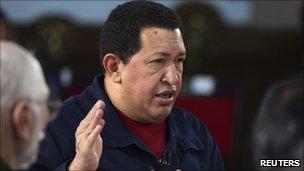 President Chavez speaking on Alo Presidente