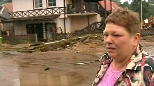 Resident in Poland with damaged house