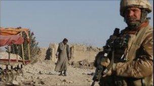 British soldier in Musa Qala