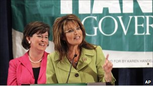 Sarah Palin and Karen Handel