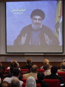 Sheikh Hassan Nasrallah speaks via video link - 9 August 2010