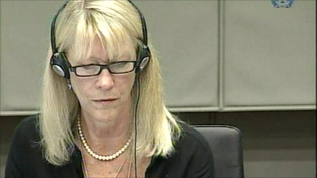 Carole White testifies at The Hague