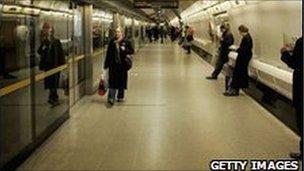 Waterloo Station platform